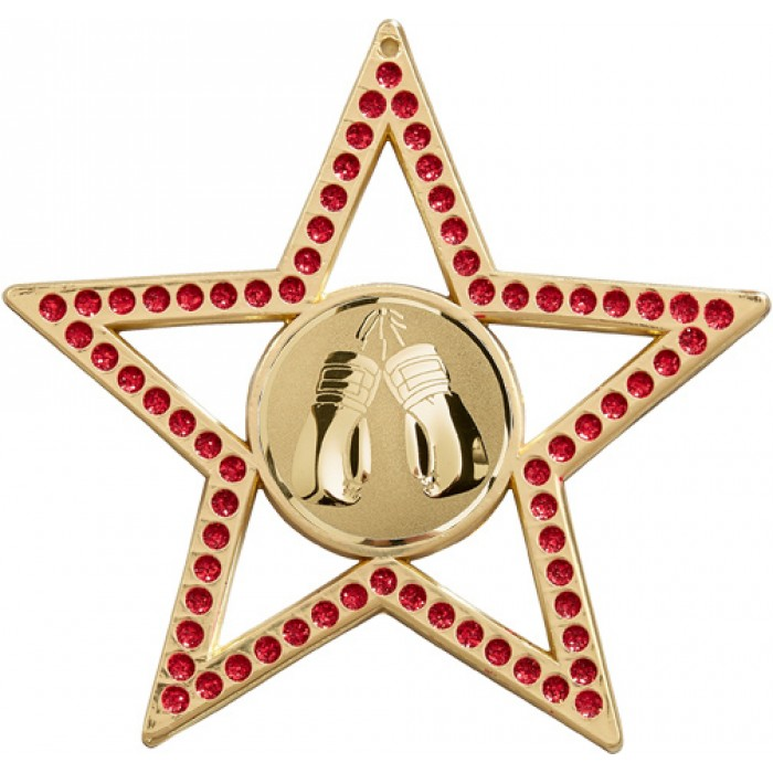 75MM RED STAR KICKBOXING MEDAL - GOLD, SILVER, BRONZE